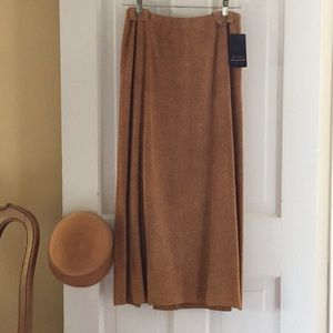 Dana Buchman NWT P4 Suede Leather perforated skirt